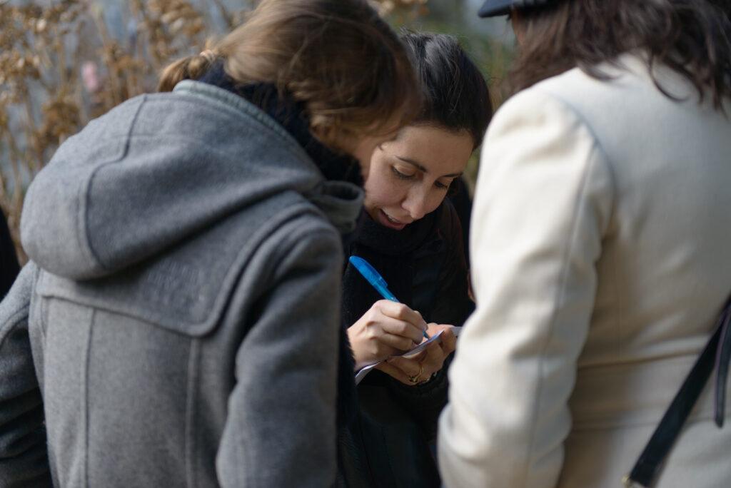 participation du public en visite guidée